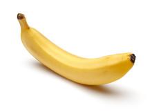 Ripe Banana Isolated On White ...