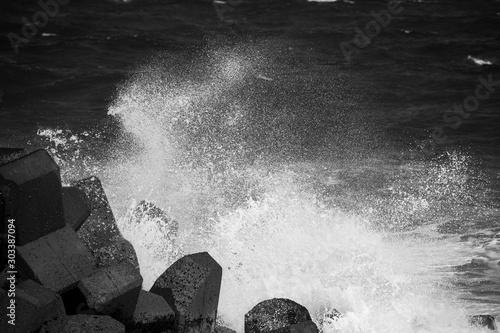 波しぶき Fototapeta