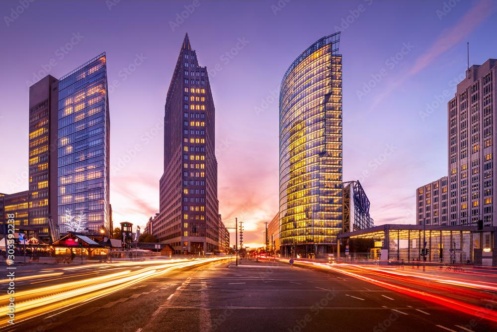 Fototapety, obrazy: potsdamer platz at sunset, berlin