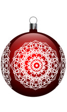 Christmas Vector Red Ball With...