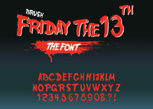 """Vintage Hand Drawn Typeface """"Friday 13 """"."""