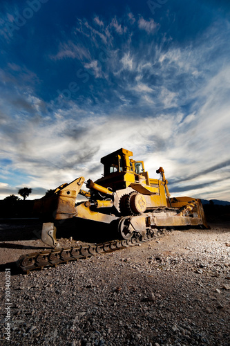 Heavy Construction Equipment with Plow attachment Wallpaper Mural