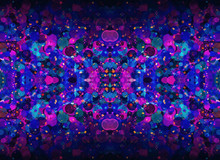 Blue And Violet Kaleidoscope M...