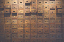 Old Wooden Textured Drawers Ba...