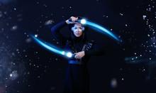 Beautiful Woman In Futuristic ...