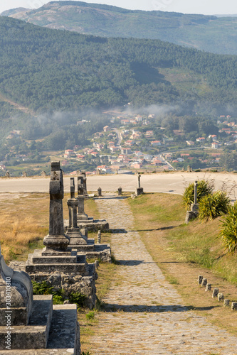 Valokuvatapetti Viacrucis del Monte de Santa Tecla, La Guardia, Galicia, Spain