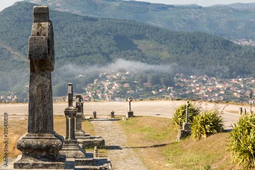 Valokuva  Viacrucis del Monte de Santa Tecla, La Guardia, Galicia, Spain