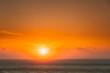 canvas print picture - Evening Sun Sunshine Above Sea. Natural Sunset Sky Warm Colors. Seascape
