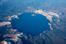 Aerial View Of Crater Lake, Or...