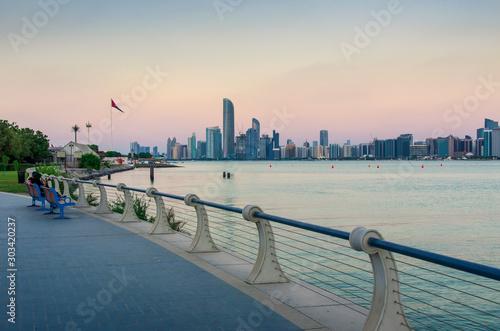 Vászonkép  Abu Dhabi downtown waterfront skyline view