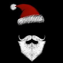 Santa Claus With White Beard A...