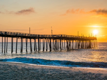 Sunrise Over The Fishing Pier ...