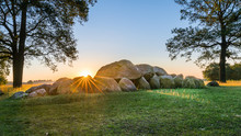 Dutch Typical Megalith Stones In Drenthe