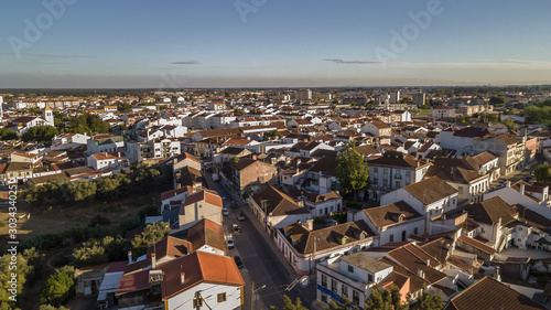 Fotografering Aerial view of the village of Benavente in Santarem, Ribatejo Portugal