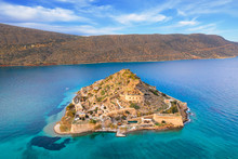 View Of The Island Of Spinalon...