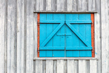 Old And Blue Window/barn Doors...