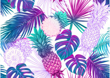 Tropical Plants And Flowers. S...