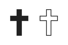 Holy Cross Isolated Vector Ico...