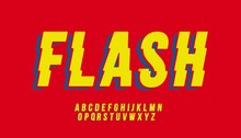 Vector Of Stylized Flash Font And Alphabet
