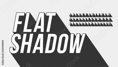 Obraz Vector of long shadow font and alphabet - fototapety do salonu