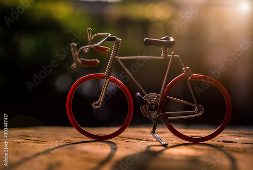Recess Fitting Bicycle bicycle on the street