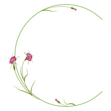 Capital Letter C With Floral M...