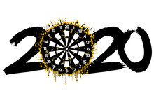 2020 New Year And A Dartboard ...