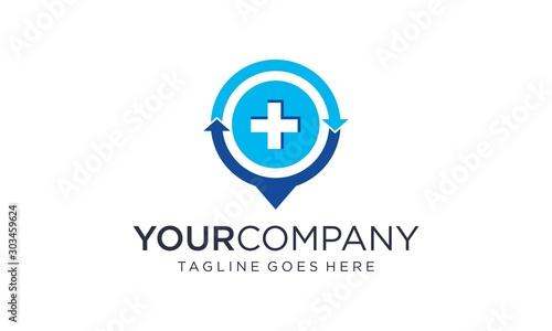 Fotomural  Medical point logo design concepts