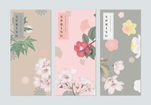 Set Of Spring Festival Brochur...