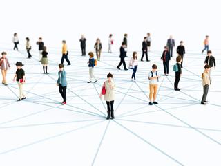 ネットワークでつながる人々
