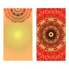 Design Vintage Cards With Flor...