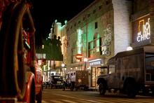 Vintage American Street Night Scene