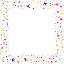 Frame With Colorful Stars