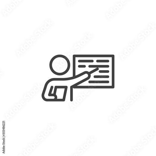 Cuadros en Lienzo Business Presentation line icon