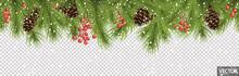 Seamless Christmas Banner Conc...