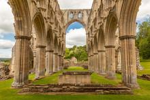 Interior Of The Cistercian Rievaulx Abbey Near Helmsley, North Yorkshire, England