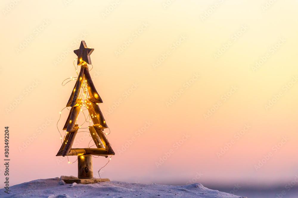 Fotografie, Tablou  Christmas tree on the beach in Australia