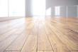 canvas print picture Light wooden floor