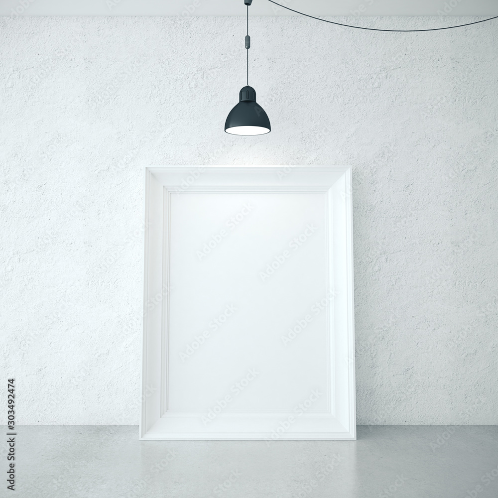 Fototapety, obrazy: Blank poster and lamp.
