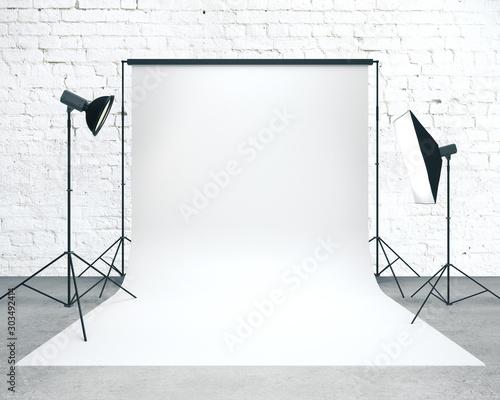 Fotografie, Obraz  Photo studio with background