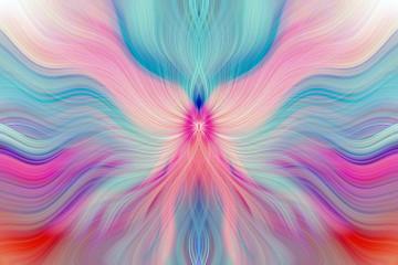Colorful Abstract Background. Graphic modern art. Fractal artwork. Creative wavy multi color background for banner design. Digital fantasy effect. Trendy desktop wallpaper. Futuristic Fractal Pattern