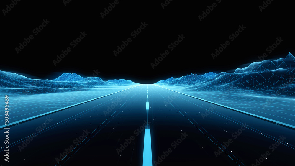Fototapeta road to heaven