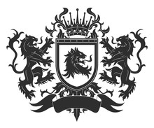 Coat Of Arms With Lions