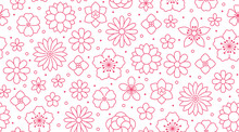 Floral Seamless Pattern, Flowe...