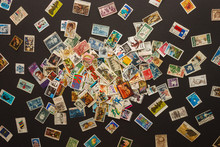 Various Old Postage Stamps Sca...