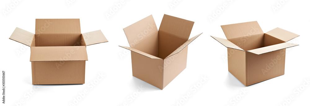 Fototapeta box package delivery cardboard carton