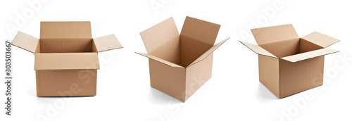 Fotografija box package delivery cardboard carton