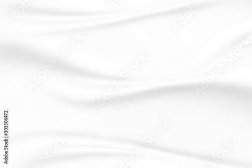 Fotografía abstract smooth elegant white fabric texture background,flowing satin waves