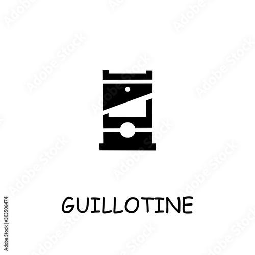 Guillotine flat vector icon Tablou Canvas