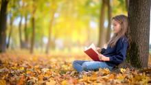 Cute Girl Sitting Under A Tree...